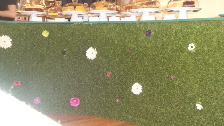 Astro turf covered counter