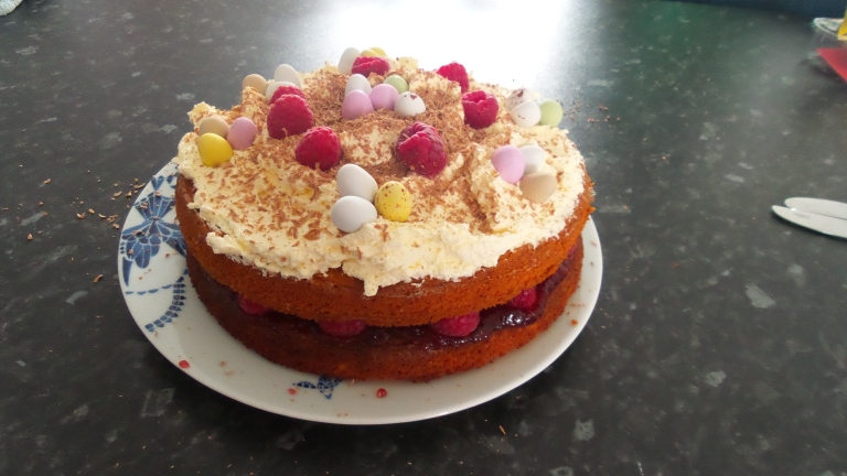 Very proud of my first proper cake without help!