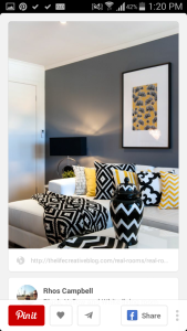Want to introduce some yellows and greys into thr room.. Crochet yellow and blackzigzag stitch cushion perhaps?